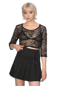 Skull Net Crop Top