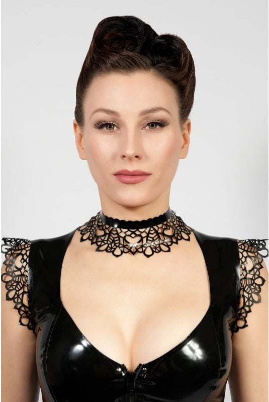 Latex Lace Reversible Choker