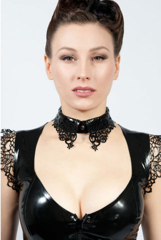 Latex Lace Collar Style Necklace
