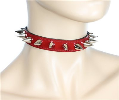 Leather Cone Spiked Collar