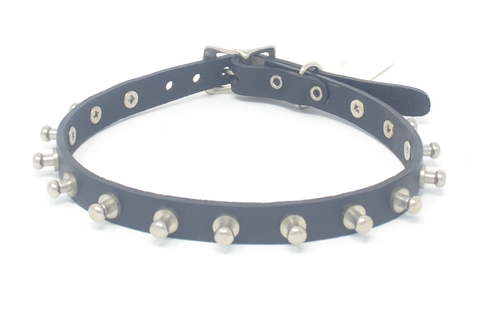 Leather Post Studded Collar