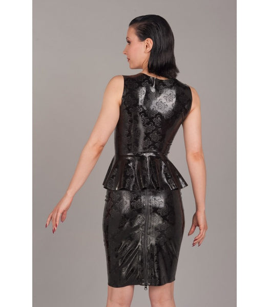 Textured Latex Filigree Skirt