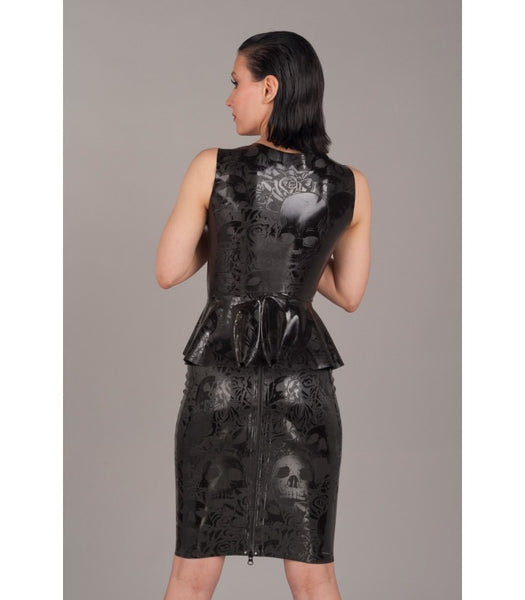 Textured Latex Skull Skirt