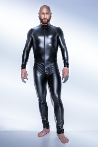 Matte Wetlook Catsuit w/ 2-Way Zipper