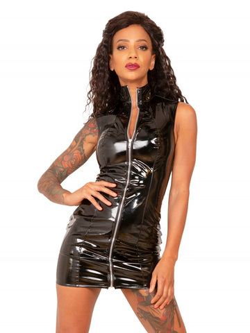 PVC Sleeveless Mini Dress