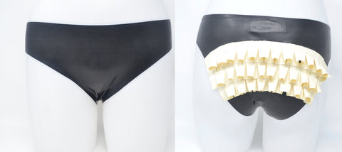 Cheeky Frills Latex Panty