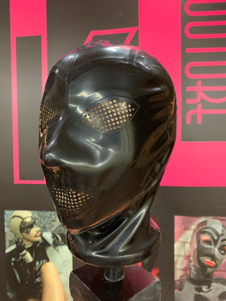 The Kinky Latex Hood w/ Perforated Eyes and Mouth