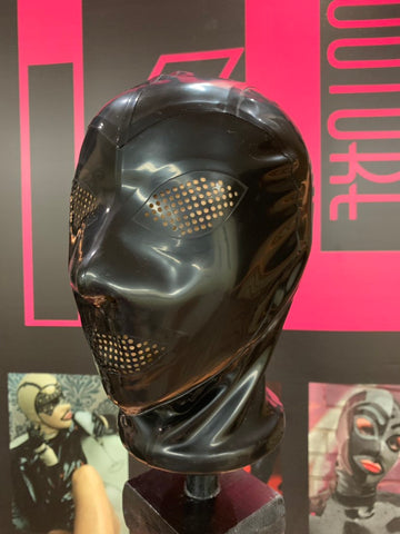 The Kink Latex Hood w/ Perforated Eyes and Mouth