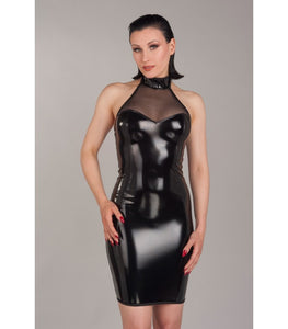 PVC Sheer Halter Neck Dress