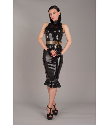 Latex Knee Length Pinup Dress