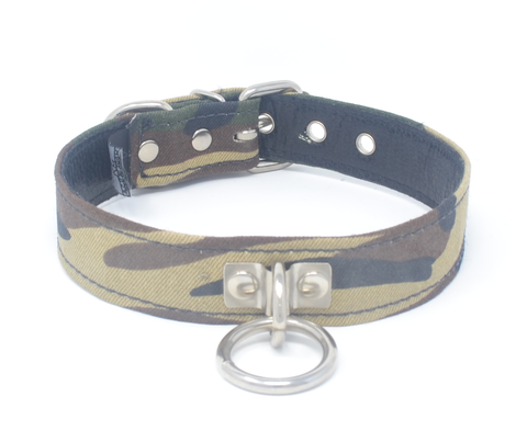 Camo and Leather Collar