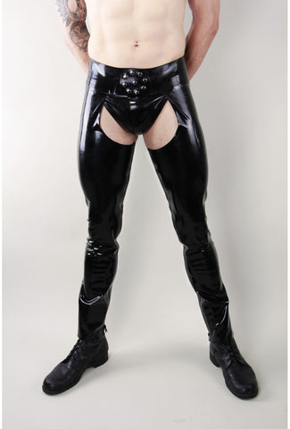 Latex Chaps with Inside Zip