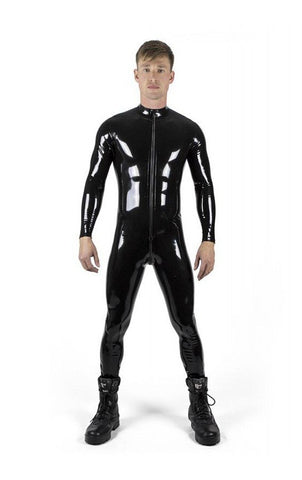 Men's Full Front Zip Latex Catsuit
