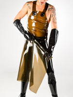 Latex Long Apron with Zipper
