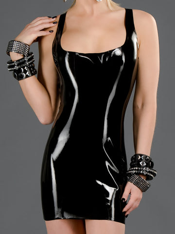 Latex Cocktail Dress with Back Zip