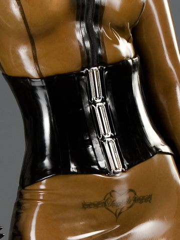 Latex Corset with Buckle Front
