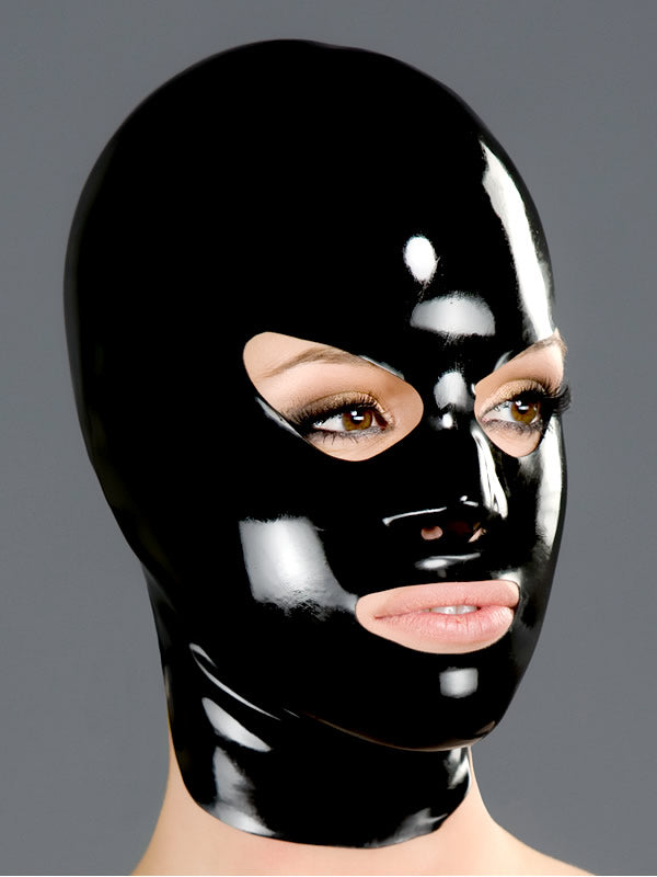 Latex Hood with Shaped Eyes, Nose and Mouth