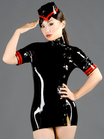 Latex Military Dress