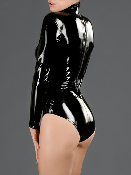 Latex Princess Line Back Zip Bodysuit