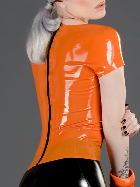 Latex T-shirt with Back Zip