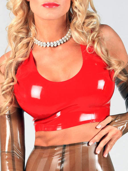 Latex Cropped Tank Top