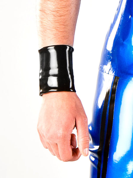 Latex Wrist Wallet with Snaps