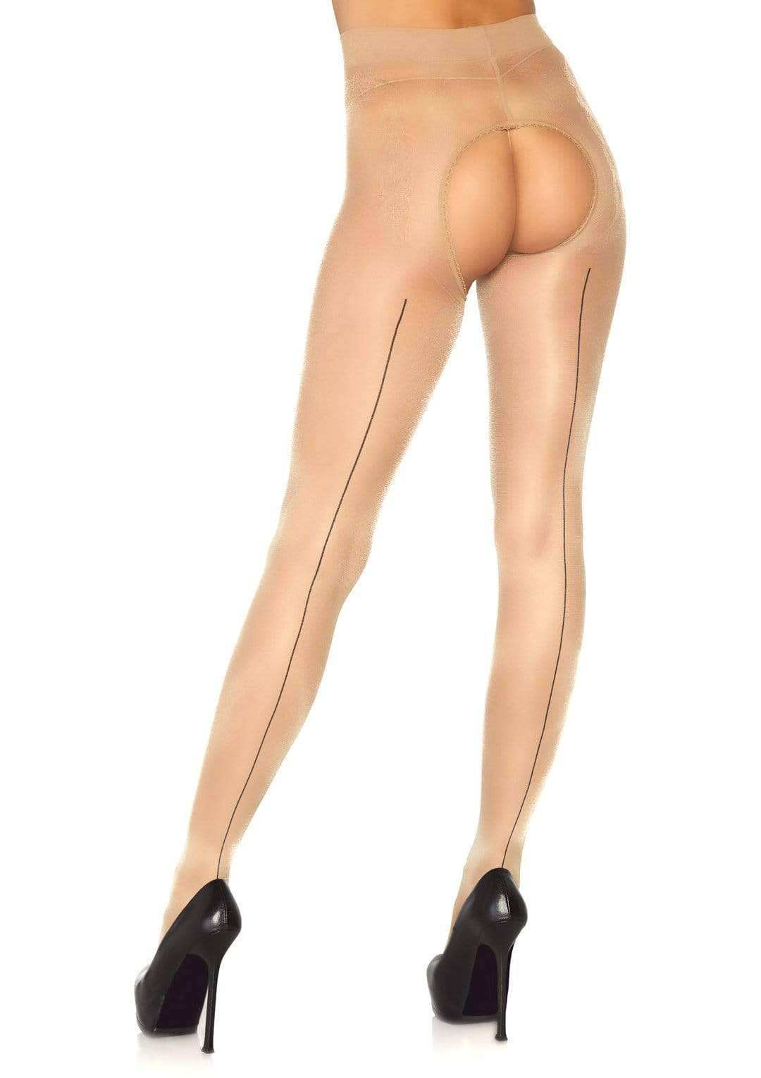 Sheer Crotchless Backseam Pantyhose