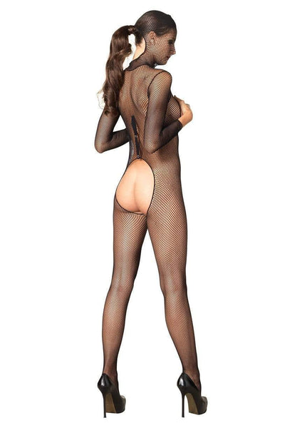 Crotchless Hooded Fishnet Bodystocking