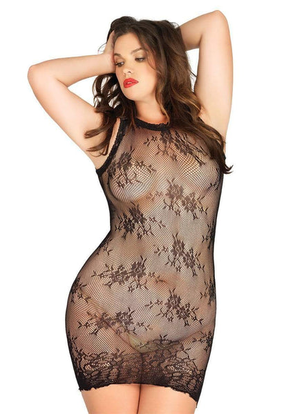 Lace Mini Dress Plus