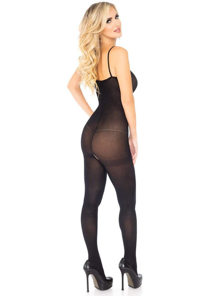 Spaghetti Strap Opaque Bodystocking