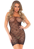 Shell Net Mini Dress