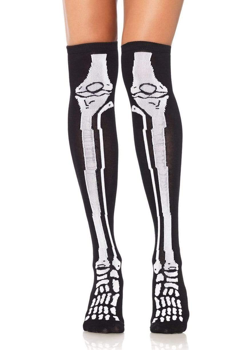 Skeleton Over The Knee Socks