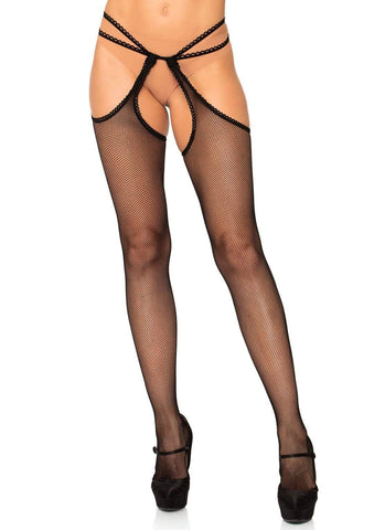Stockings with Strappy Attached Garterbelt
