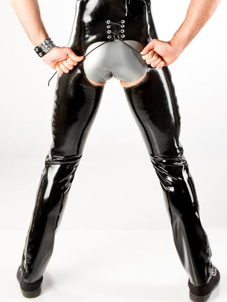 Men's Latex Chaps with Side Zippers