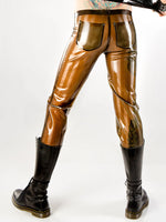 Men's Striped Latex Sailor Pants