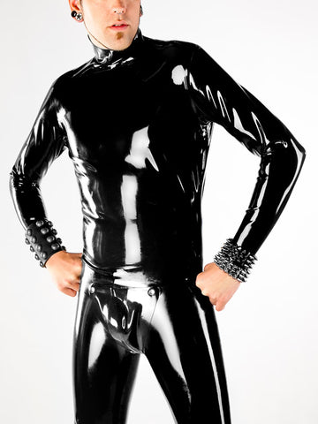 Men's Latex Back Zip Long Sleeve Shirt