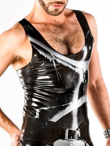 Men's Marbled Latex Tank Top