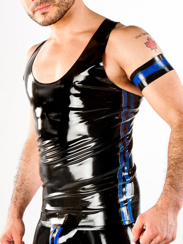 Men's Latex Tank Top With Side Piping