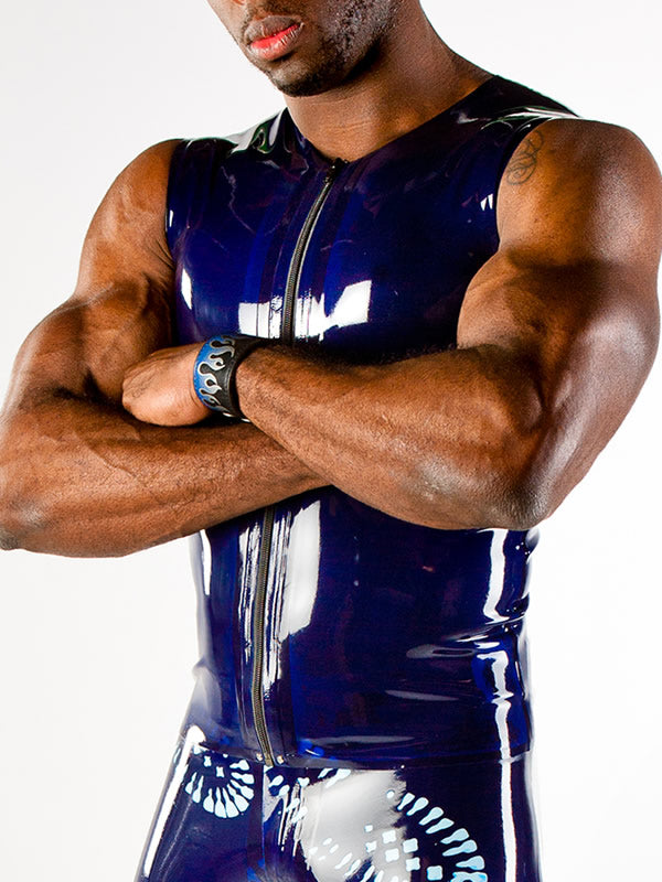 Men's Latex Vest with Zipper
