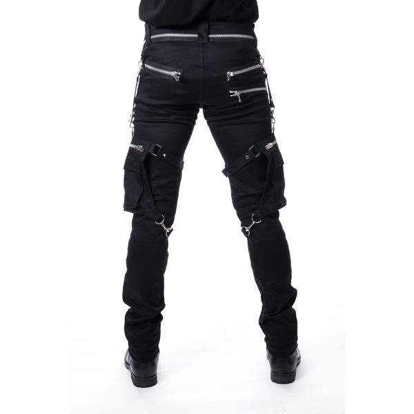 Black Pants with 2 Detachable Leg Bags