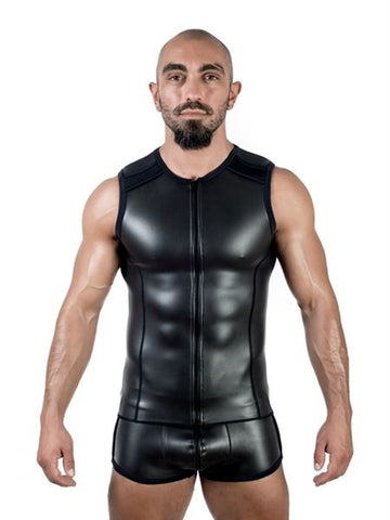 Neoprene Sleeveless Zip T-Shirt Vest