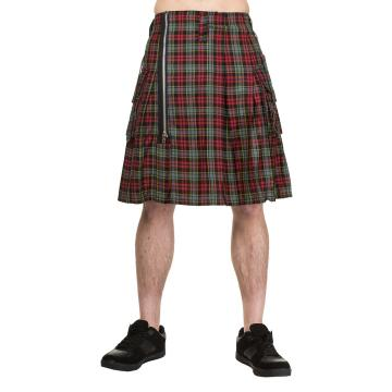 Red and Grey Tartan Kilt