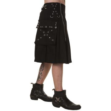 Studs Punk Heavy Cotton Kilt