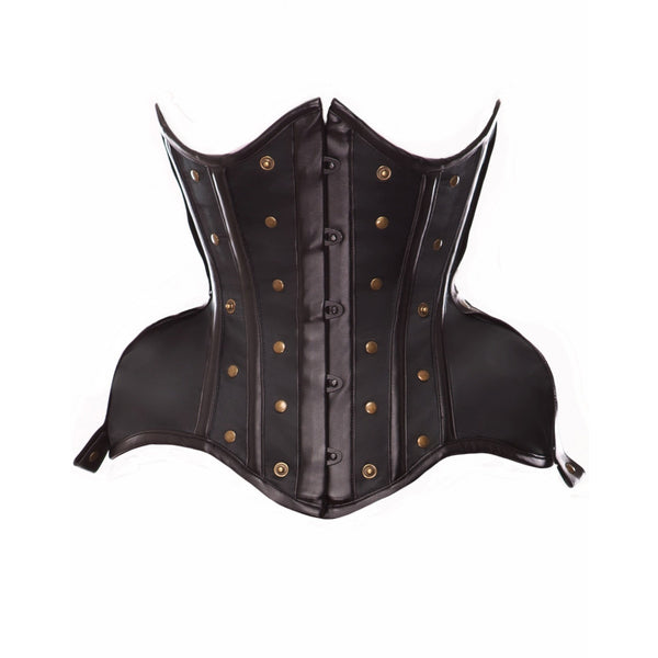 Curvy Hips Underbust Corset with Removable Skull Panel