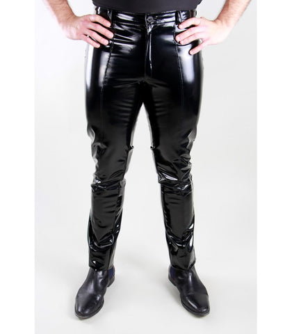 Slim-Fit PVC Pants