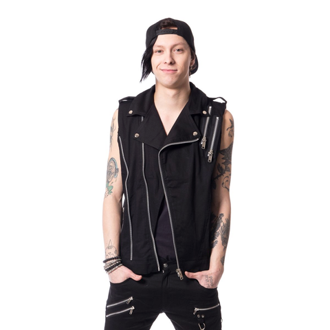 Perfect Punk Moto Style Vest