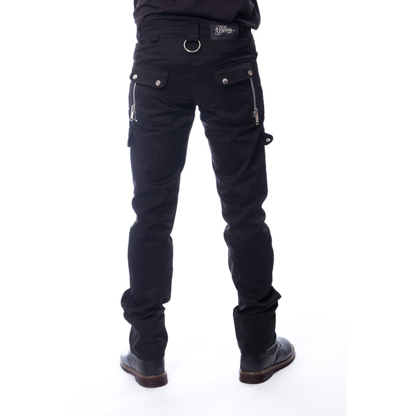Black Trousers with Zipper Details