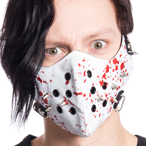 Bloody Spiked Half Face Mask