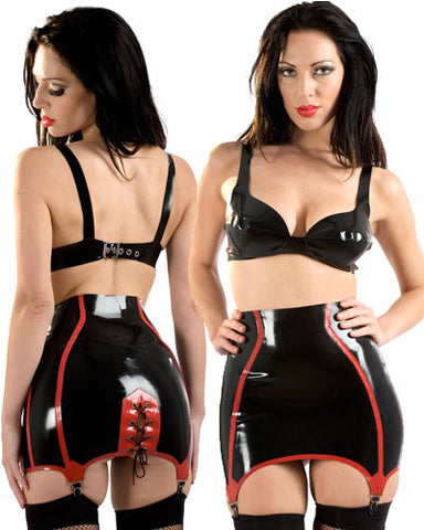 Seduce Suspender Latex Girdle