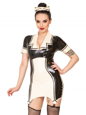 Latex Maid Suspender Dress